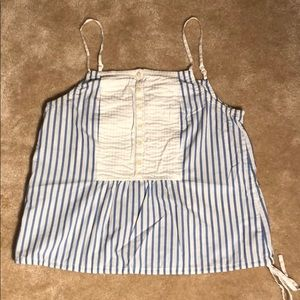 Adorable Gap Blue & Wt Striped Tank Medium